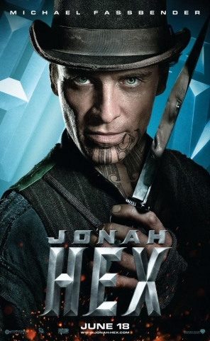 Michael Fassbender as Burke in Jonah Hex movie poster